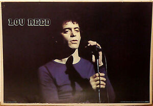 PRL) 1979 LOU REED CANTAUTORE CHITARRISTA VINTAGE PRINT AFFICHE ART POSTER