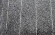 Grey wool charcoal-white Stripe Fabric-quality Clarke & clarke - 53 x 42 cm