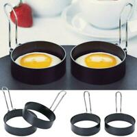 Nonstick Stainless Steel Round Egg Rings Shaper new Ring Panca Molds U8Q9