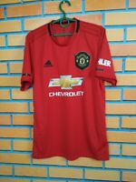 Manchester United Jersey 2019 Home MEDIUM Shirt Football Soccer Adidas ED7386