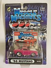 MUSCLE MACHINES 1966 '66 FORD MUSTANG 02-42 PINK  w/ STRIPES