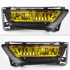 Honda Accord 2013-2015 4dr Sedan Yellow Front Glass Fog Lights Pair w/ wiring