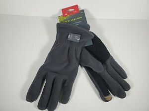 TekGear Microfleece Texting Gloves - Gray, L/XL  (New, with Tags) Touch Screen