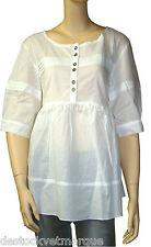 Tunique blanche LOLA ESPELETA  femme blanc taille 36-38