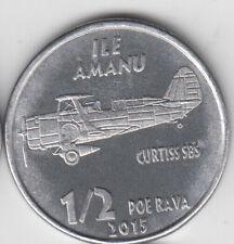 unusual Alu Ø20mm RANGIROA ½ Poe Rava 2015 Plane Grumman F4F FRENCH PACIFIC