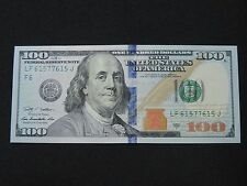 2009 A $100 US DOLLAR BANK NOTE LF 61577615 J 3 DIGIT BOOKEND BILL USD UNC CU