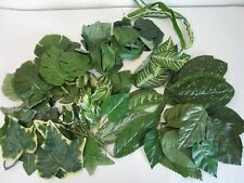 Mixed Lot of Artifical Silk Fabric Plastic Floral Leaves & Stems Greenry Crafts