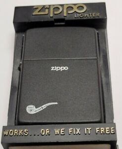 Vintage Zippo 1984 Pipe Flame Lighter | MINT IN BOX | VERY RARE DESIGN |