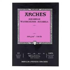 Aquarelle Arches Aquarelle Papier Pad Hot Pressed 12 feuilles 26x36cm 100% coton