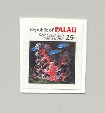 Palau #77 Coral, Fish 1v Imperf Proof Mounted on Card