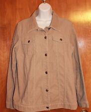 OLD NAVY MATERNITY Large BUTTON-UP JACKET (beige corduroy) near perfect condit.