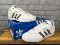 ADIDAS MENS UK 8 EU 42 WHITE GREY LEATHER ORIGINAL SUPER SAMBA TRAINERS