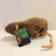 """Harry Potter NECA 9"""" Scabbers Rat Plush Animal Doll New with Original Tag"""