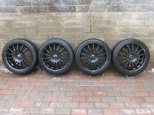 """Team Dynamics Motorsport Monza 4 x 17"""" Alloy Wheels With Tyres ***Delivered***"""
