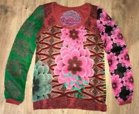 Desigual ladies womens Style 30B2346 multicolor shirt top blouse size S