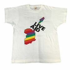 "Vintage Live Aid ""This Shirt Saves Lives"" T-Shirt 1985 Concert Freddie Mercury"