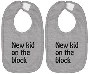 Infant Baby Bib Cotton Hook & Loop Baby Gift Custom New kid on the block 2-Piece