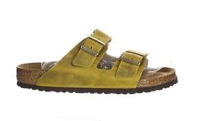 Birkenstock Mens Arizona Soft Footbed Yellow Slides EUR 44 (2187217)