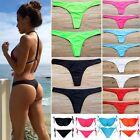 Women HOT Brazilian Cheeky Bikini Bottom Thong Bathing Beach Swimsuit Swimwear