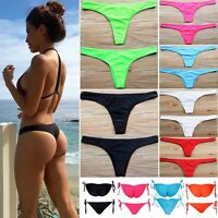 Women HOT Brazilian Cheeky Bikini Bottom Thong Bathing Beach Swimsuit Swimwear