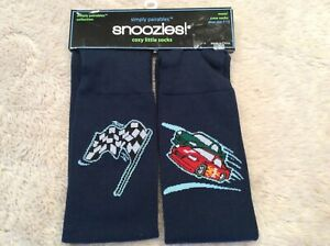 NEW Snoozies! Simply Pairables Cozy Mens Crew Socks NASCAR Navy Size 10-13