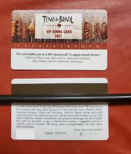 Texas de Brazil VIP CARD 12 Dinners at 50%Off $250-$300 savings Valid Nationwide
