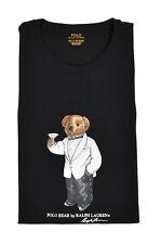 Polo Ralph Lauren Black Tuxedo Martini Bear T-Shirt 2XB New