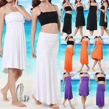 Polyester Solid Maxi Skirts for Women