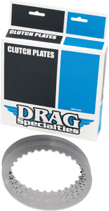 Drag Specialties Steel Motorcycle Clutch Plate Kit 98-17 Harley Dyna Touring FLS