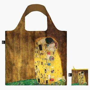 LOQI Shopping Tote Bag The Kiss Gustav Klimt Reusable, foldable, Travel, Gift
