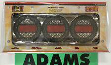 LED Autolamps Black Chrome 1x MaxilampC3XRW Stop/Tail/Ind/Rev 12/24V 4WD & Truck