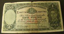 1942 Australia One Pound Note Wartime Armitage & McFarlane