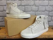 VANS LADIES UK 5 EU 38 STONE SK8 HI TOP TASSEL TRAINERS RRP £75