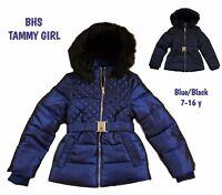 BHS Girls Coat Jacket Winter Quilted Hooded Rain Warm School Fleece Lined BNWT