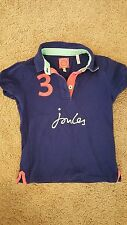 LITTLE JOULES BLUE BRANDED APPLIQUE polo top SHIRT SIZE 8