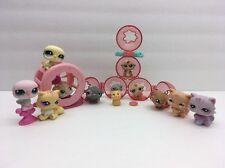 LPS Littlest Pet Shops 16 Piece Lot hasbro Baby Hamsters Wheel Animal Toy Set