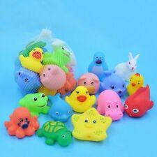 Baby Bathing Toy 13 Stück Badespielzeug Mit Gemischten Tieren Schwimmend Drücken