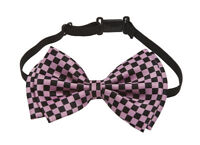 Pre-tied Bow Tie in Gift Box- Pink and Black Checkered