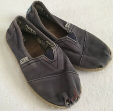 Unisex Girls Boys Navy Toms Well Loved Size Y1