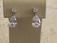 2383a546dabff Kenneth Jay Lane Rhodium Plated Cubic Zirconia Fashion Earrings for ...