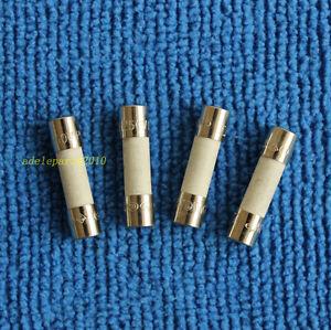 10pcs T4AH250V, T4A 250V, T4A 250V, T4H250V cartridge CERAMIC fuses 5X20m NEW