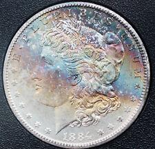 1884-CC Morgan Silver Dollar NGC GSA MS66 Star CAC Rainbow Toned