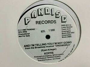 """Koffie And I'm Telling You I'm Not Going Dreamgirls 12"""" 1983 PANDISC RRD2214 DJ"""