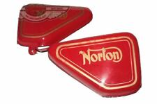New Norton Commando Tool Box Oil Tank Side Panel Kit Red Painted Left Right CAD