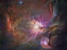 Télescope spatial Hubble Nébuleuse Orion Poster Print art 400pya