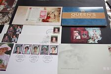 ROYAL STAMPS X 15 stamp collection Queen Elizabeth Birthdays Diana Princess