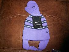 Girls Toddler Nike Vintage Striped Hat & Mittens Set 2T-4T NWT