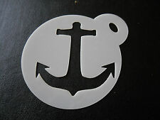 Laser cut small anchor design cake, cookie,craft & face painting stencil