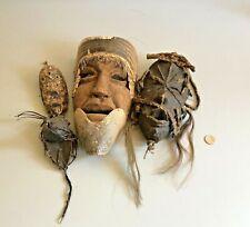 4 x Afrikanische Maske Stammes Kunst Afrika KUNST
