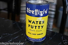 Vintage Can*SHEFFIELD*Water Putty*Crack Filler*One Pound*Simpsons-Sears*CANADA*